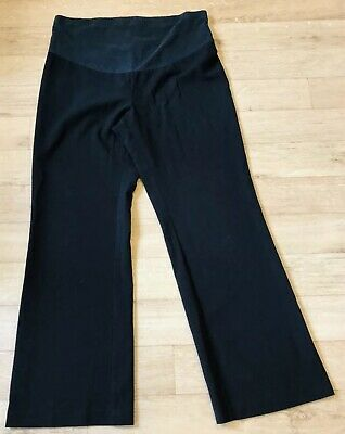 Marks and Spencers Maternity Over Bump Black Work Trousers Size 12 Leg 31