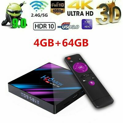 H96 Max Android 9.0 TV Box 2.4G/5G WIFI H.265 USB 3D Set Top Box 16/32/64GB W3A8
