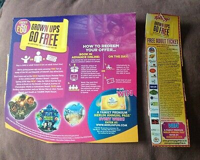 Kelloggs Free Entry Voucher Alton Towers Chessington Legoland Thorpe Park