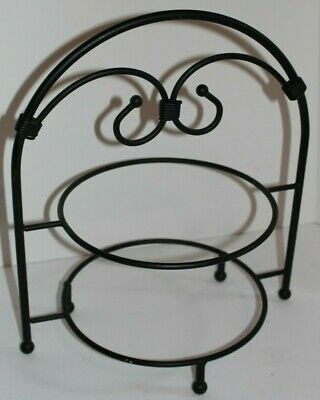 Southern Living At Home Wrought Iron Two Tiered Plate Stand Red Mountain #40009