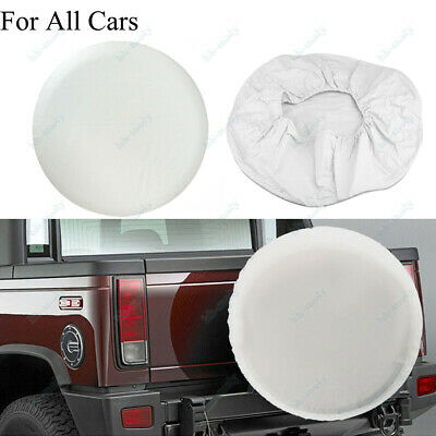 Universal White Spare Wheel Tire Tyre Cover Weather Resistant For Car Trailer RV