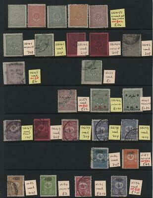 TURKEY: Sg 141-Sg 291 Examples - Ex-Old Time Collection - 2 Sides Page (25419)