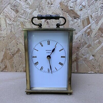 Vintage Metamec Brass Carriage Clock - Spares or Repair - Wedding Prop - 13cm