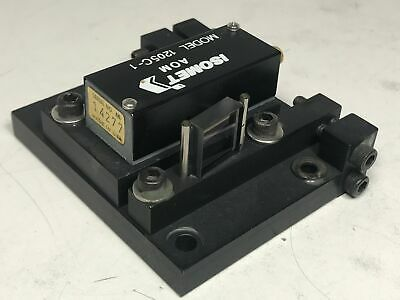 Isomet AOM Laser Acousto Optic Modulator w/ 1mm Dia, 488 - 633nm VIS 1205C-1