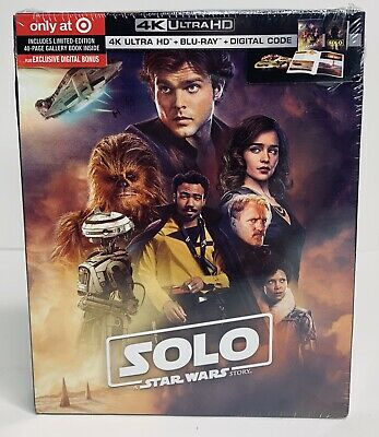 Solo: A Star Wars Story  4K UHD + Blu-ray + Digital + 40 Page Gallery Book NEW