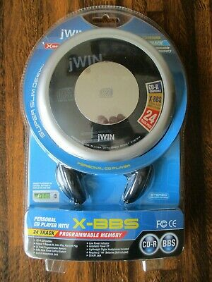 Jwin X-BBS 24 Track Super Slim Style JX-Cd338 Personal Cd Player Bass Boost