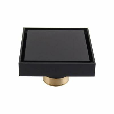 """Solid Brass Square Shower Floor Drain W/ Tile Insert Grate Removable Cover 3.9"""""""
