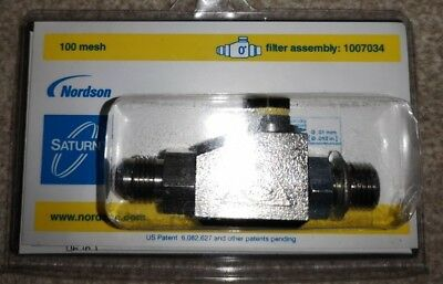Nordson 1007034 - SATURN FILTER IN-LINE 100 MESH 0 Degrees 0.15 mm RRP £116.00