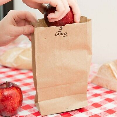 (500-Pack) 3 lb. Brown Disposable Paper Grocery School Lunch Bags, Made in USA