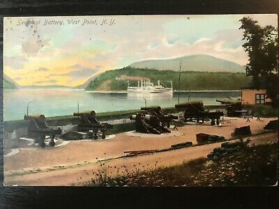 Vintage Postcard>1910>Seacoast Battery>West Point>New York