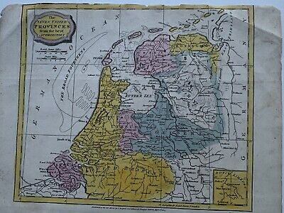1807 Holland Netherlands Original Antique Hand Coloured Map 212 Years Old