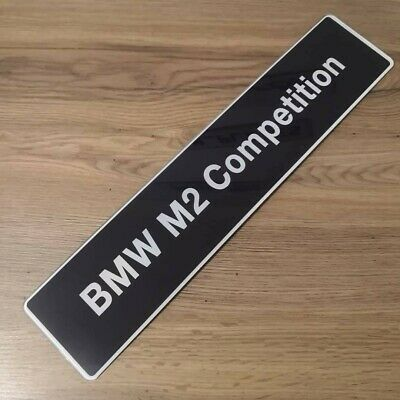 BMW M2 Competition Show Number Plate. Custom Models Available