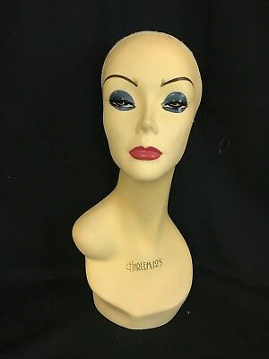 Vintage Department Store Harlem 125 Wig/Hat Display Mannequin Head (Harlem125)