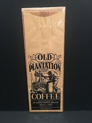Old Plantation Coffee Bag ~ Vintage Old Store Stock Black Americana