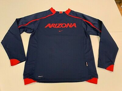 Arizona Wildcats Nike Fit Men's Blue/Red Long Sleeve Pullover - Small
