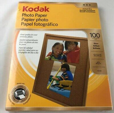 Kodak Glossy Photo Paper Letter Size 8.5  x 11 In Pack Of 100 Sheets Sealed