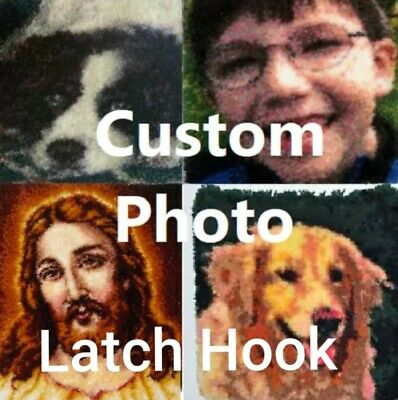 DIY rug Latch Hook Kit personal photo customise picture unique gift personalise