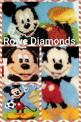 DIY rug Latch Hook Kit Disney Mickey & Minnie Mouse cushion pillow cover rug new