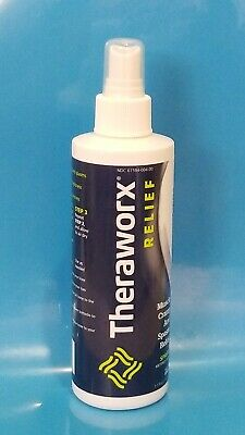 Theraworx RELIEF .Muscle Cramp and Spasm Relief Spray. 7.1 fl oz.  EXP :08 /2021