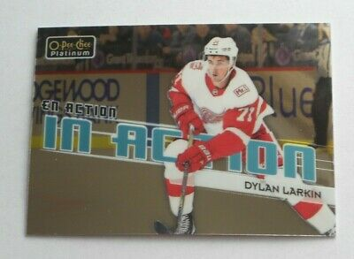 2018-19 OPC Platinum IN ACTION - DYLAN LARKIN (IA-11) RED WINGS