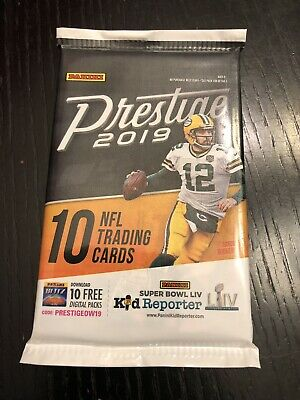 2019 Panini Prestige Football Patch Relic Or Jersey Relic HOT PACK!