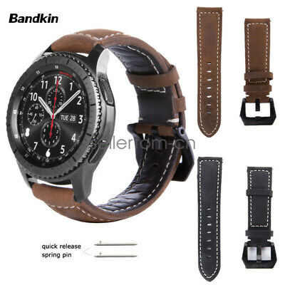 Bandkin Genuine  Leather Wrist Band Strap for Samsung Galaxy Watch / Gear S3