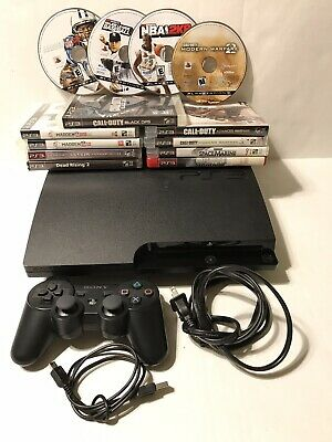 Sony PlayStation 3 Slim  320GB Charcoal Black Console (CECH-3001B)