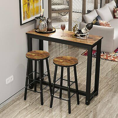 Stupendous Small Metal Pub Set Breakfast Table Dining Stools Kitchen Pdpeps Interior Chair Design Pdpepsorg