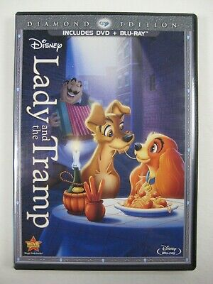 Lady and the Tramp (Blu-ray/DVD, 2012, 2 Disc set, Diamond Edition) w/slipcover