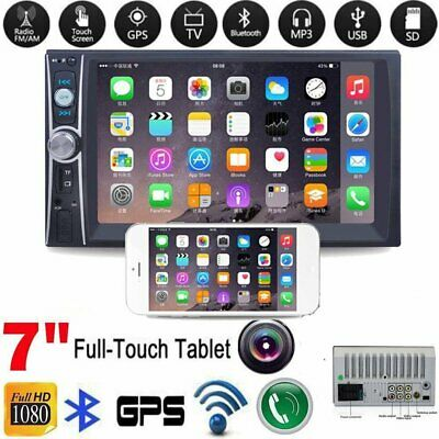 7 Inch Bluetooth Car Radio Stereo MP5 Player Double 2DIN FM DVD USB Touch Screen