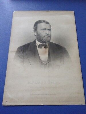 1870's Premium Engraving President Ulysses S. Grant, by New York Independent