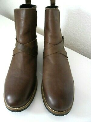 CHAUSSURE SHOE NAVY BOOT SIZE 44 Made in PORTUGUAL Cuir Leather  Leder Brun