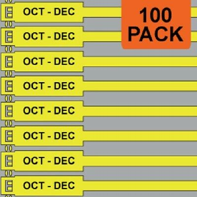Jtagz 300mm RigTag OCT - DEC Lifting Inspection Tags (YELLOW) | PACK OF 100