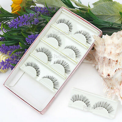 5 Pairs False Eyelashes Mink Hair Handmade Natural Eye Lashes Makeup Extension