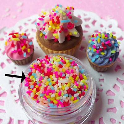 100g DIY Polymer Clay Colorful Fake Candy Sweets Sugar Sprinkles Party Decor AU