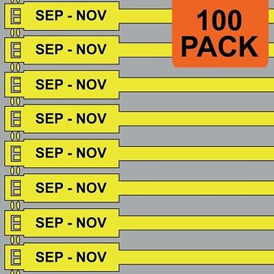 Jtagz 300mm RigTag SEP - NOV Lifting Inspection Tags (YELLOW) | PACK OF 100