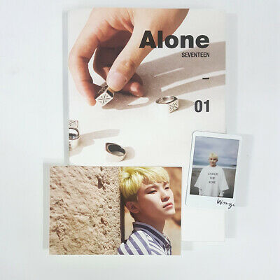 Seventeen Alone 01 CD+Photobook+Sticker+Wooji PostCard+PhotoCard