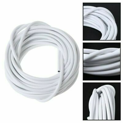 Net Curtain Wire White Window Cord Cable With 14 HOOKS & EYES NEW UK 2M, 3M, 4M