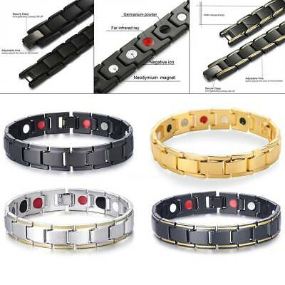 Unisex Magnetic Therapy Bracelet Anion Energy Healing Therapy Bio Health Care AU