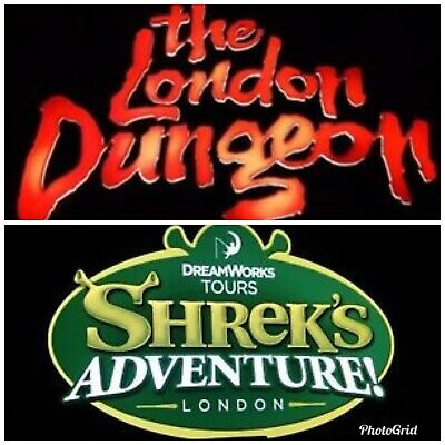 4 London Dungeon or Shrek Tickets  Unique Booking Code Pick Your Own Date & Time