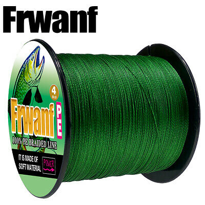 Japanese Strong Moss Green PE Braided 500M Multifilament Fishing Line 6-100LBS