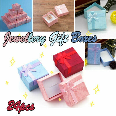 24x Jewellery Gift Boxes Bag Necklace Bracelet Ring Small Wholesale Pack Present