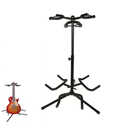 Triple Guitar Stand Adjustable Folding Electric Acoustic Multi Universal Rack