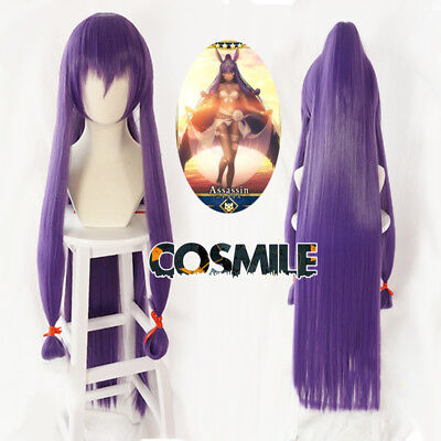 Fate Grand Order FGO Pharaoh Nitocris Cosplay Hair Wig Ponytail Game 150cm Sa