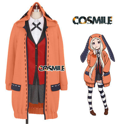 Runa Yomozuki Kakegurui Loli Cosplay Costume Coat + Stocking Uniform Custom-made