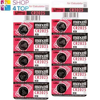 10 Maxell Cr2025 Lithium Batteries 3V Coin Cell Dl2025 Exp 2022 New