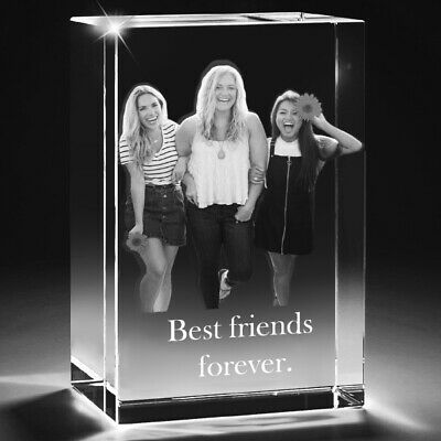 Personalised gift ideas   UK Personalised gifts 2D Laser Engraved Glass Crystal