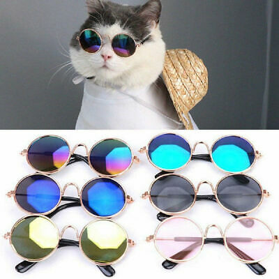 11 Colors Pet Glasses Sunglasses Round Funny Fashion Photo Props Dog Cat Supply