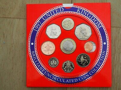United Kingdom Brilliant Uncirculated Coin Collection 1997 Excellent condition