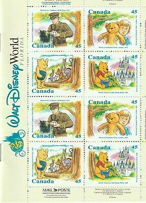 Walt Disney World 25th Anniversary Canada 16 Stamps & Winnie the Pooh booklet